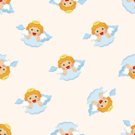 angel: angel ,seamless pattern Illustration