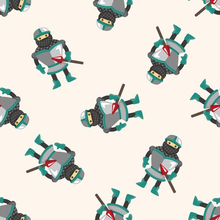 cartoon knight: knight ,seamless pattern Illustration