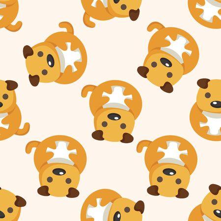 cartoon dog: animal dog cartoon ,seamless pattern