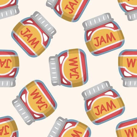 canned fruit: jam ,seamless pattern Illustration