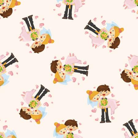 wedding couple: wedding couple ,seamless pattern