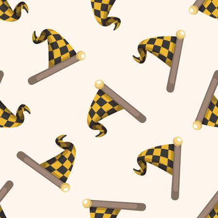 checker flag: racing flag ,seamless pattern Illustration