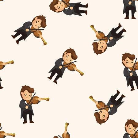 violinist: character musician violinist ,seamless pattern