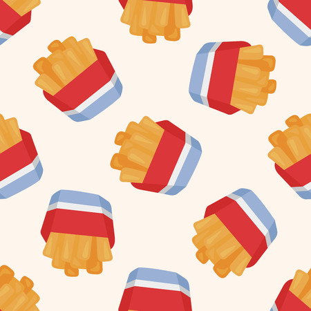 fried foods: Fried foods theme french fries ,seamless pattern Illustration