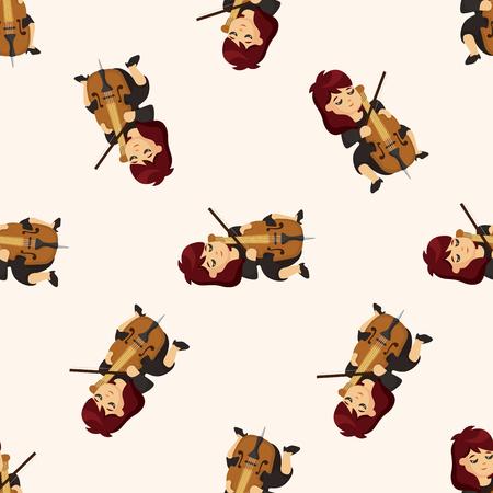cellist: character musician cellist ,seamless pattern