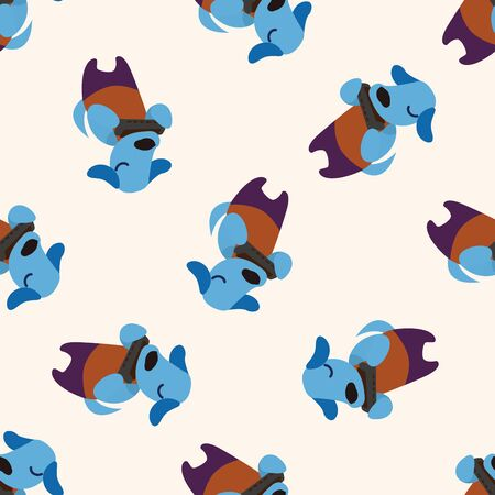 cute animal: musical animal dog icon 10,seamless pattern Illustration