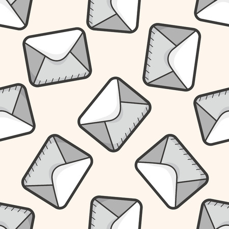 spamming: computer icon mail ,seamless pattern