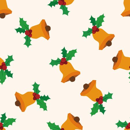 christmas bell: Christmas bell icon 10,seamless pattern