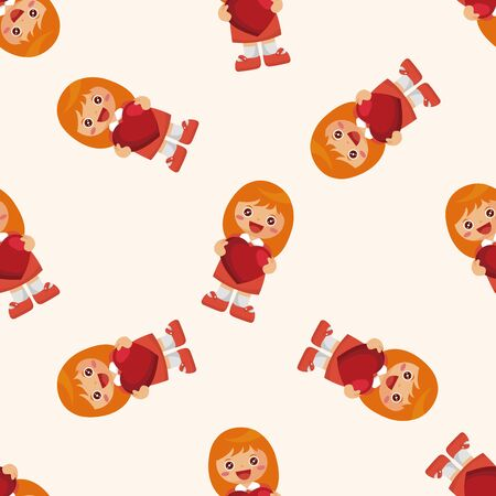 communication cartoon: people with heart character ,seamless pattern Illustration
