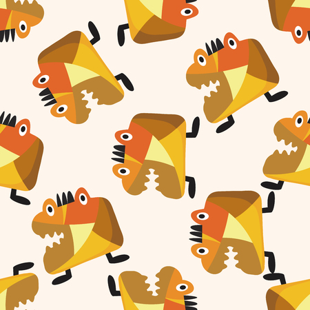 pattern monster: bizarre monster icon,10,seamless pattern Illustration