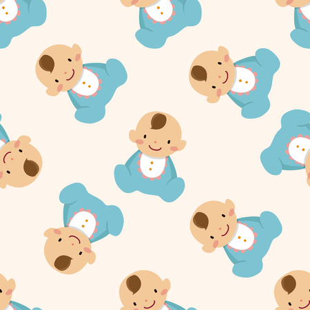 baby clothing: family baby character icon 10,seamless pattern