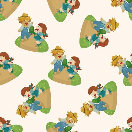 oz: The Wizard of Oz cartoon ,seamless pattern