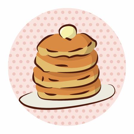 binge: fast food pancake flat icon elements,eps10