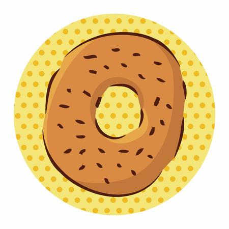 comida rápida: fast food donut flat icon elements,eps10 Vectores