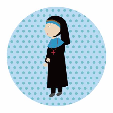 sacerdote: pastor y monja elementos tem�ticos, eps Vectores