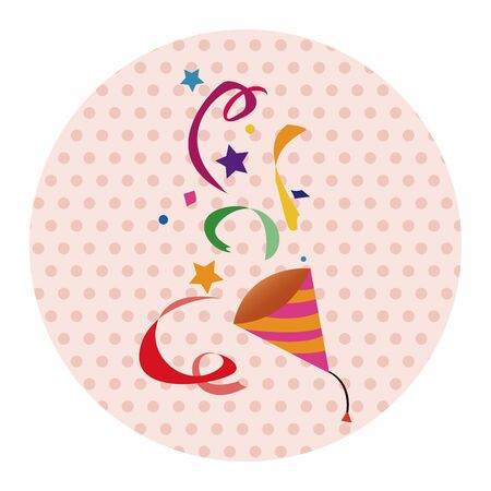 party horn blower: party horn theme elements vector,eps