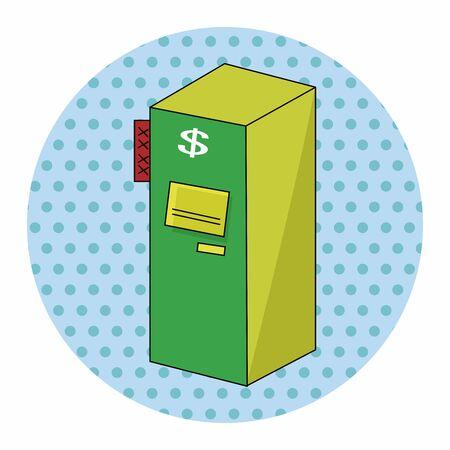 cash machine: casino cash machine theme elements Illustration