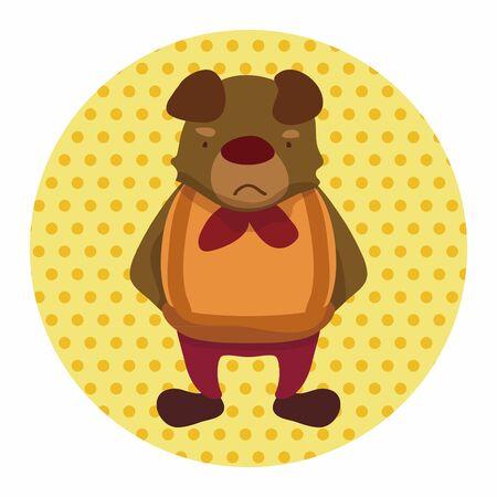 perro caricatura: Elementos del tema de dibujos animados perro animales Vectores