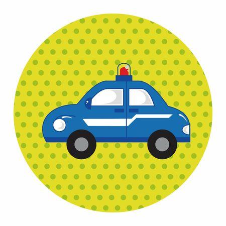 politieauto: transportation police car theme elements vector,eps Stock Illustratie
