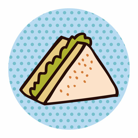 take out food: fast food sandwich flat icon elements,eps10 Illustration