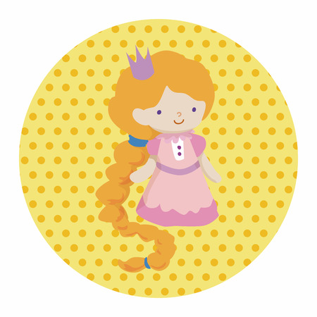 rapunzel: fairytale princess theme elements Illustration