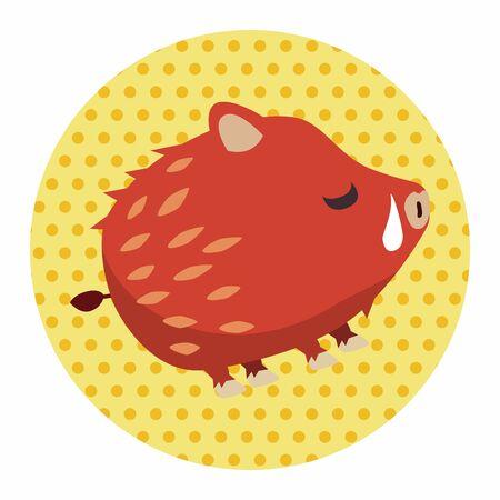 jabali: Animal wild pig cartoon