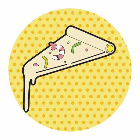 comida americana: elementos tema de los alimentos pizza americana, eps Vectores