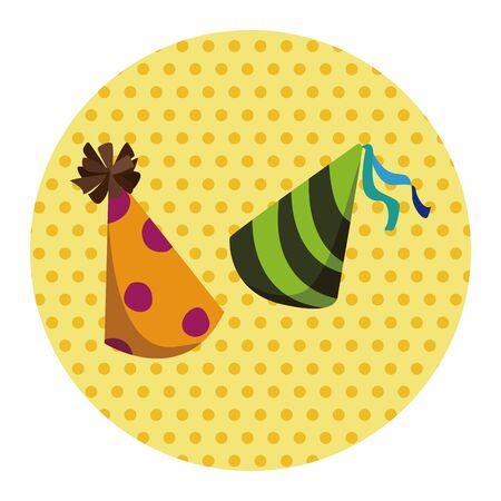 new year's cap: birthday hat theme elements vector,eps Illustration