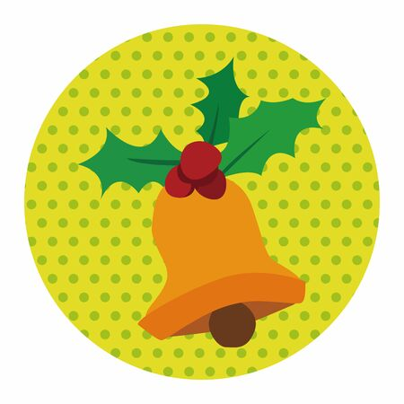 christmas bell: Christmas bell flat icon elements background,eps10 Illustration