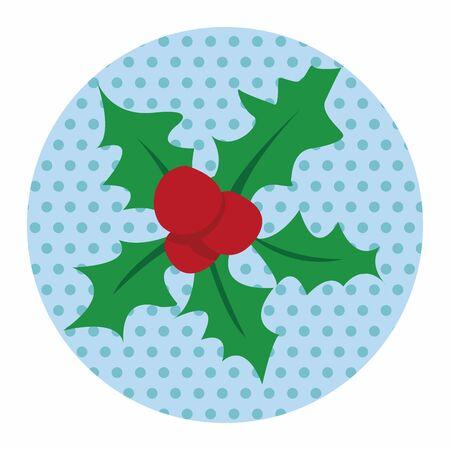 decorations wreaths: Christmas wreath flat icon elements background,eps10