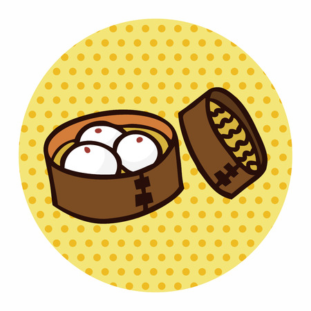 bun: fast food bun flat icon elements,eps10