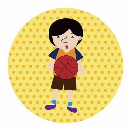 jump shot: basketball player elements vector,eps
