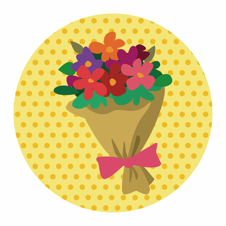 floral bouquet: Bouquet of flowers flat icon elements background,eps10