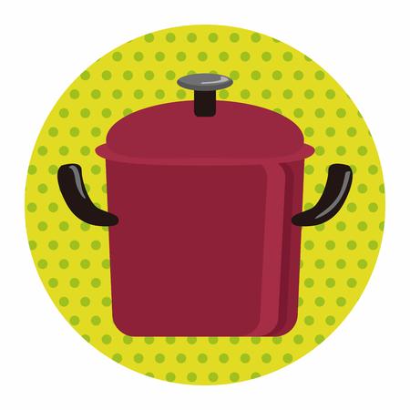 kitchenware pot theme elements vector,eps