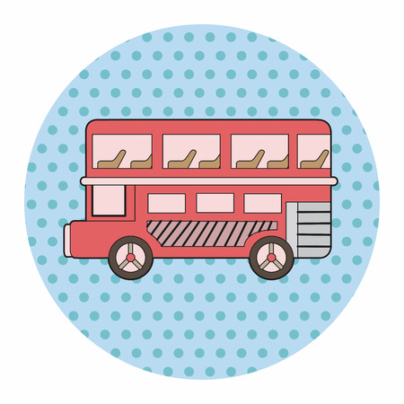 british culture: Double-decker bus theme elements vector,eps