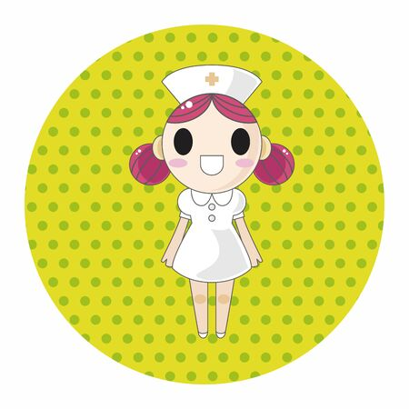 nurse uniform: hospital theme nurse elements vector,eps Illustration