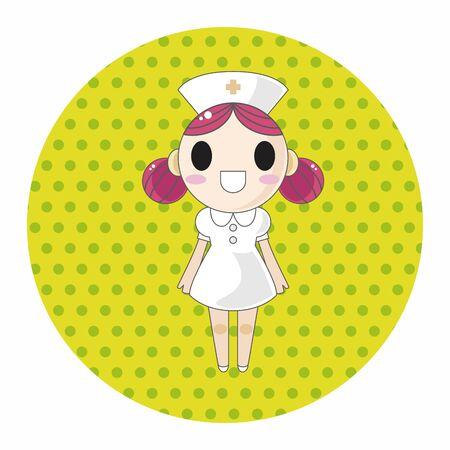 hospital cartoon: hospital theme nurse elements vector,eps Illustration