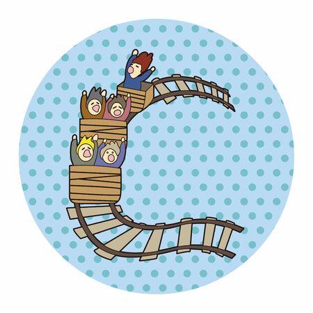 theme: roller coaster theme elements