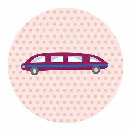 limo: transportation limo theme elements vector,eps