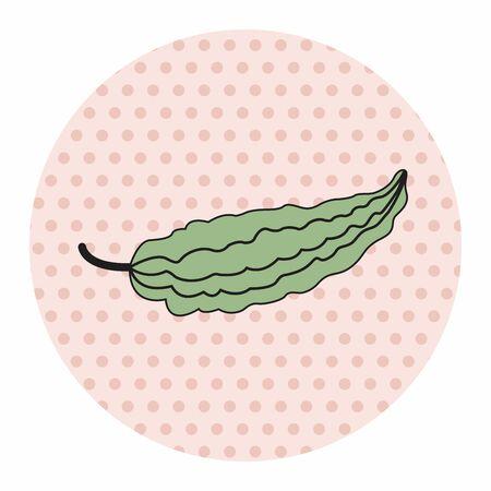 bitter: vegetable theme bitter elements vector,eps