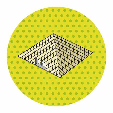 moulin: Louvre theme elements vector,eps Illustration