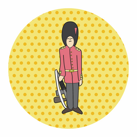 buckingham palace: Queens Guard theme elements vector,eps