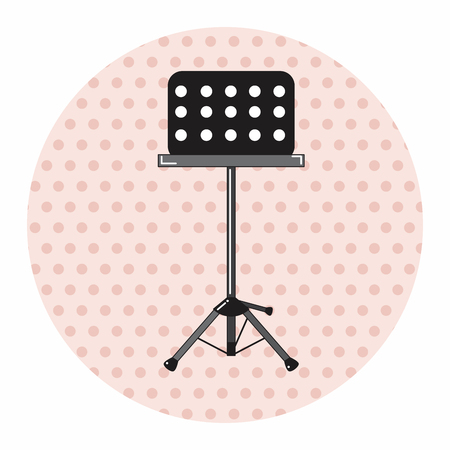 music stand: Music stand theme elements vector,eps Illustration