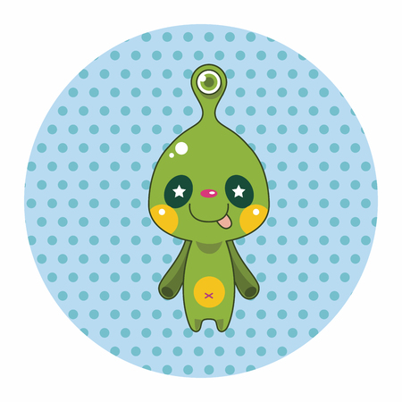 vecotr: monster cartoon theme elements vecotr,eps