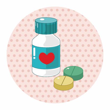 remedies: hospital theme medicine elements vector,eps