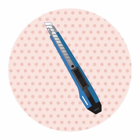 utility knife: stationary utility knife theme elements vector,eps Illustration