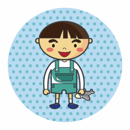 schoolkid: family boy character flat icon elements background,eps10
