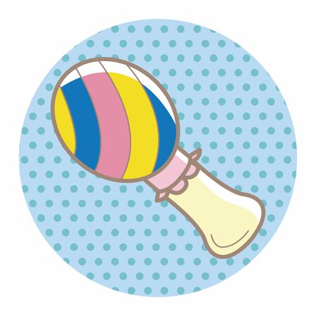 rattle: Baby rattle theme elements