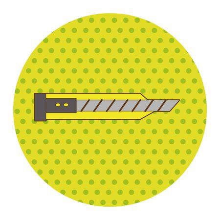 utility: stationary utility knife theme elements vector,eps Illustration