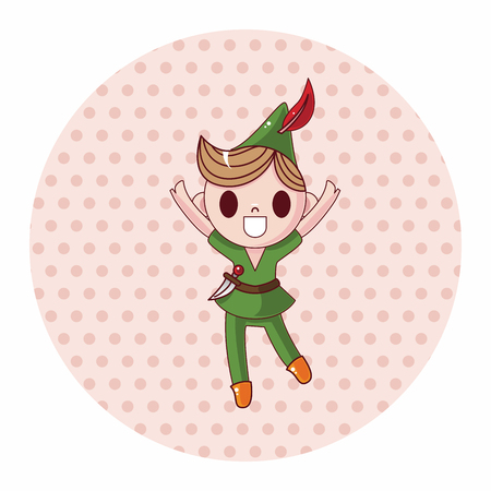 cartoon little red riding hood: Peter Pan theme elements